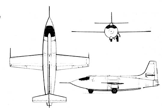 Bell-X-one three view