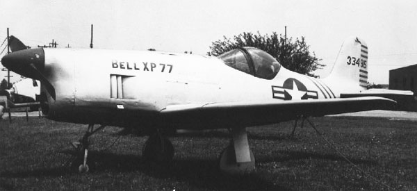 Bell XP-77 Parked
