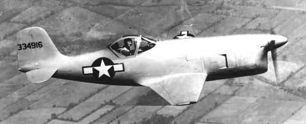 Bell XP-77 In Flight