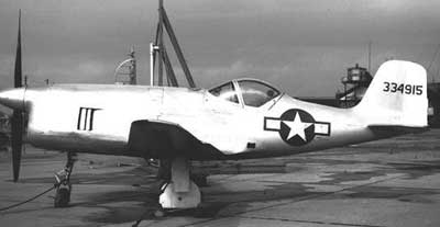 Bell XP-77 Side View