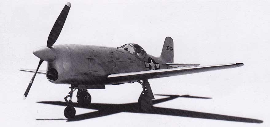 Bell XP-77 downloadable cardmodel from fiddlersgreen.net