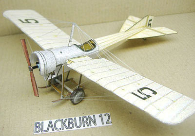 Blackburn 12 paper model airplane