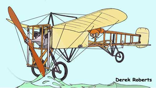 Louis Bleriot XI paper model illustration