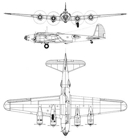 3 View of the Boeing Model 299