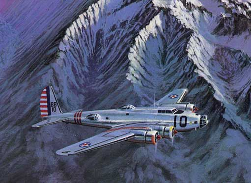 B-299 in mountains