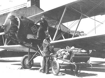 Boeing-40 loading up