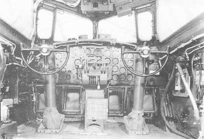 Cockpit of the Boeing B-17
