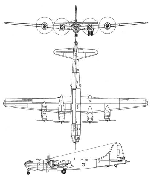 3 View Superfortress