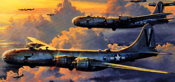 The Boeing B-29 Superfortress paper model page header