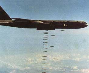 Boeing B-52 stratofortress big ugly fat fella  Dropping Bombs