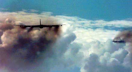 Smoking Boeing B-52 Stratofortress BUFF  Bomber