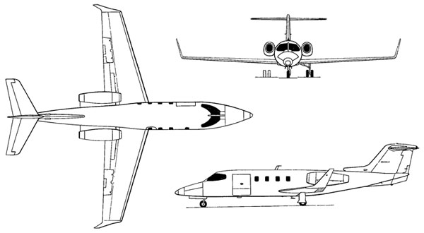 3 View of the Learjet