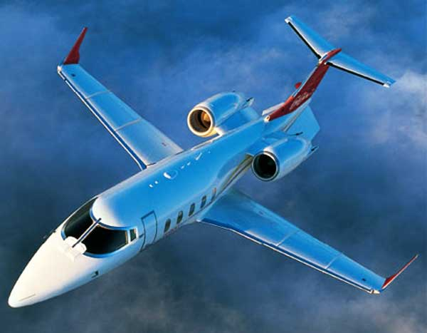 Learjet aircraft