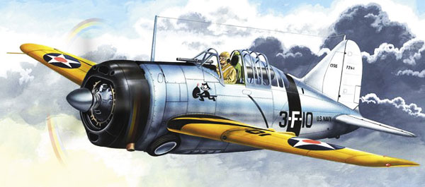 picture of the F2A Brewster Buffalo