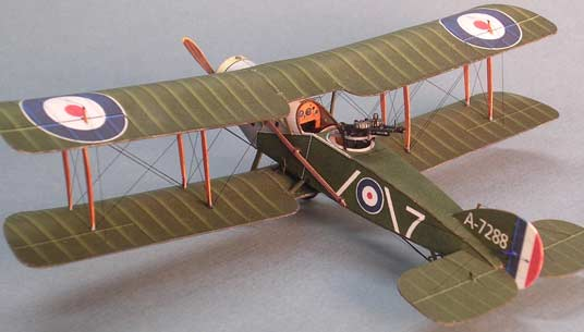 FG paper model of the Bristol F-2B