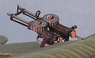 Lewis Guns modeled closeup