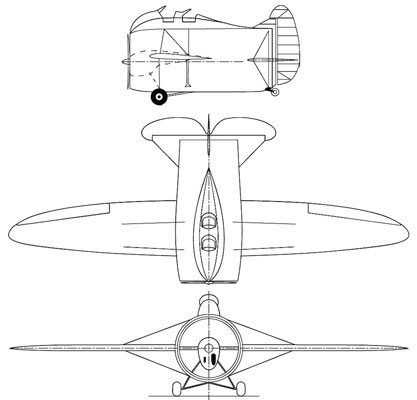 3 view of the Caproni-Stipa