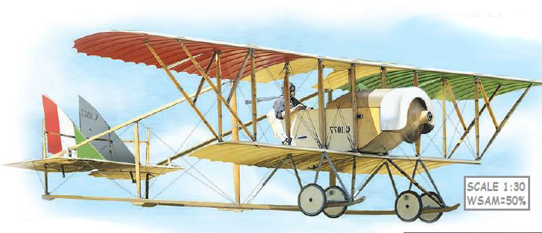 artwork for the French Caudron G.3 paper model