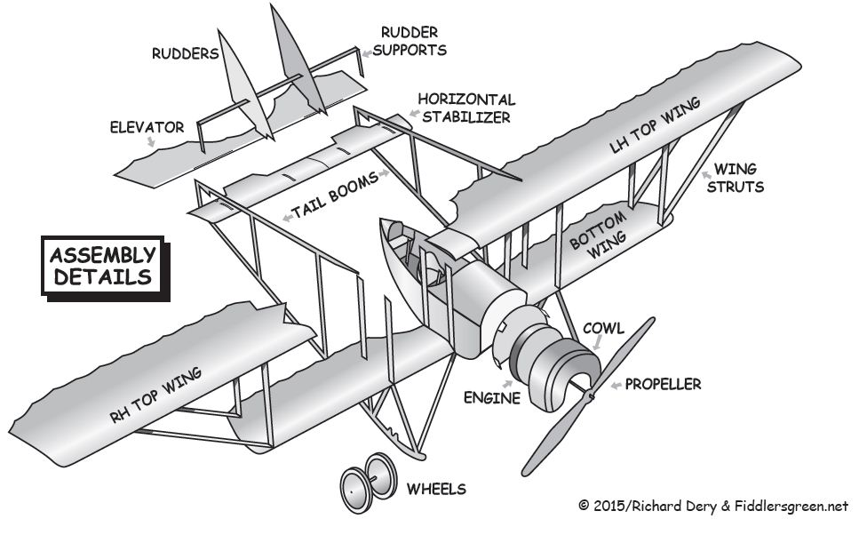 instruction sheet for French Caudron G.3