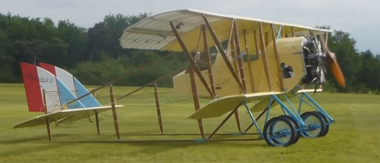 French Caudron G.3 on the grass