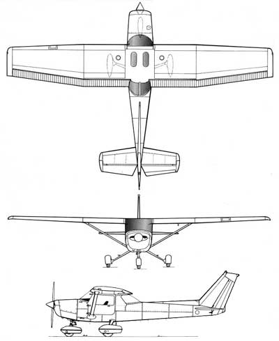 3 View Cessna 152