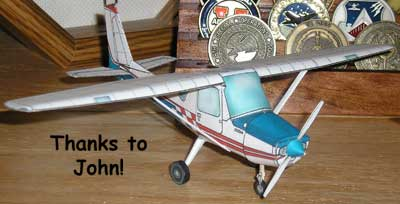 photo of Cessna 152 paper model