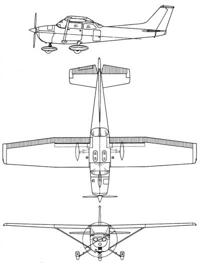 3 View of the Cessna 172 Skyhawk