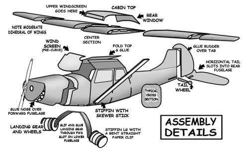 Assembly Details of the Cessna L-19 Bird Dog