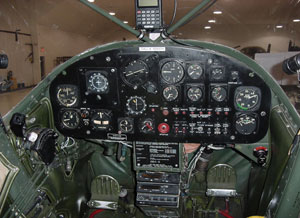 Cessna Bird Dog Cockpit