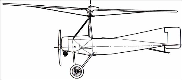 Cierva C-4 Autogyro SIDE VIEW
