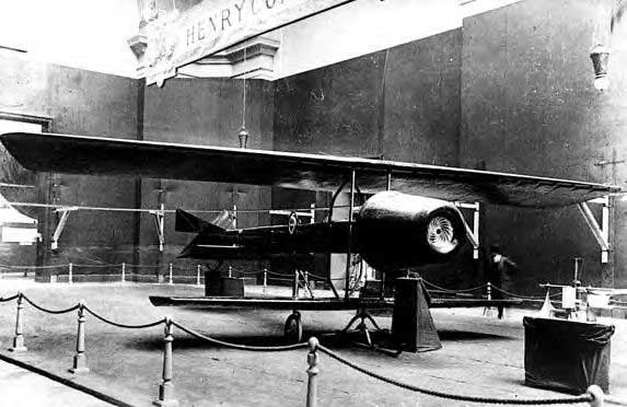 Coanda 1910 - Worlds First Jet Airplane Front View