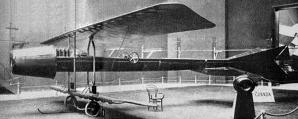 Coanda 1910 - Worlds First Jet Airplane Side View