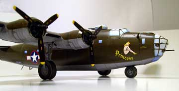 consolidated b 24 bomber princess card model downloadable