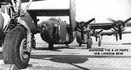 Consolidated Liberator B-24 bomber landing gear