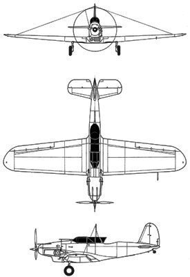 3 View of the Consolidated P-30