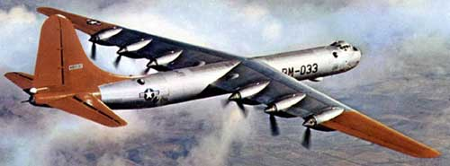 Convair B-36  in flight