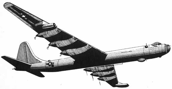 Convair B-36 Peace maker Sketch