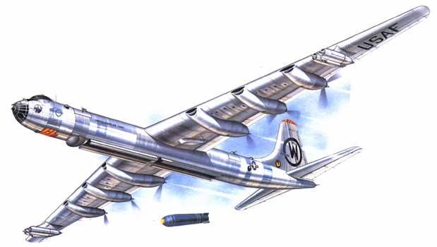 illustration of the B-36 Convair