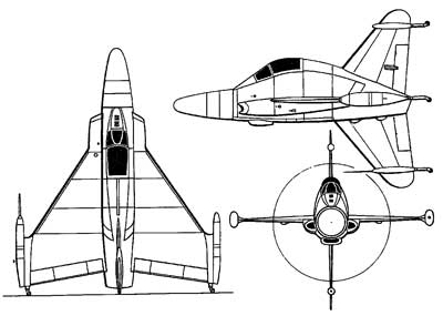 3 View Convair XFY-1 Pogo
