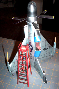 Convair Pogo Vertijet paper model