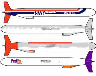 various colorings-Tomahawk Cruise Missile