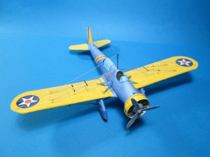 Curtiss A-12 Shrike paper model