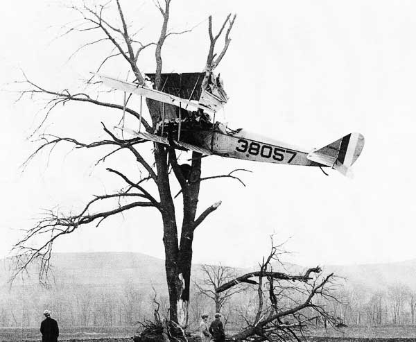 Curtiss Jenny Crash
