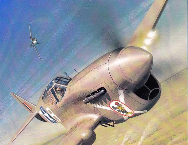 P-40 Warhawk paper model