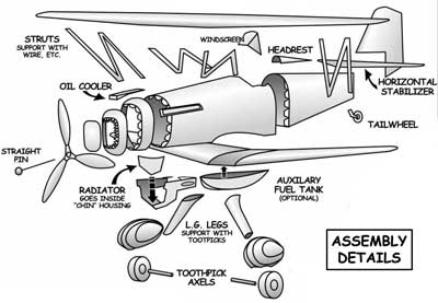 Assembly Details for the Curtiss P-6e Hawk