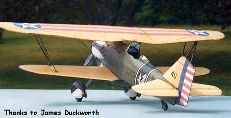 Curtiss Hawk p-6e p6e p6-e paper model