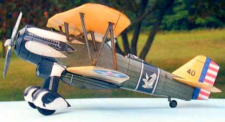 Curtiss P-6E Hawk paper model