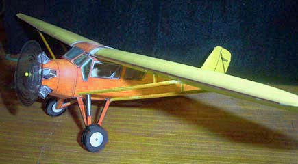 Curtiss Robin paper model