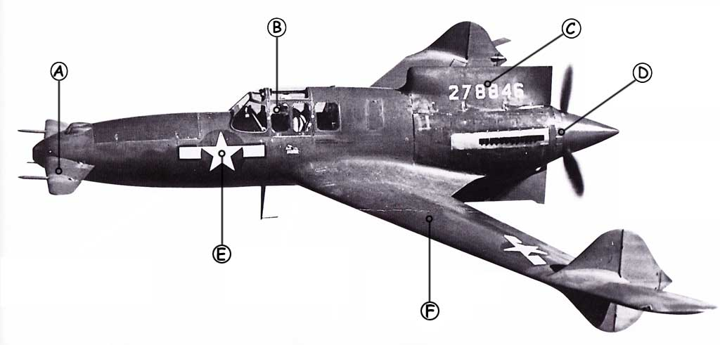 Curtiss XP-55 Ascender Callout