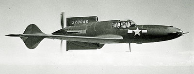 Curtiss XP-55 Ascender In Flight